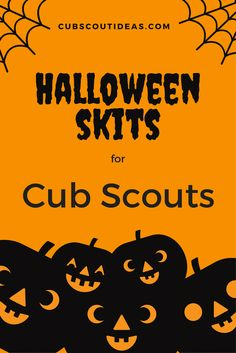 Halloween Cub Scout skits are great for those September and October den and pack meetings. These skits are simple, fun, and easy. via Halloween Cub Scout skits are fun for October den and pack meetings! Your Cub Scouts will love acting out these 5 Cub Scout Skits, Cub Scout Games, Cub Scout Activities, Cub Scouts Wolf, Tiger Scouts, Scout Mom, Girl Scouts, Skits For Kids, Cub Scout Crafts