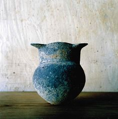 a wabi sabi owl in japanese pottery