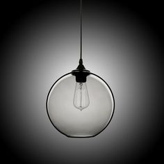 Shop for (In Stock) Modern Minimalist Glass Pendant Light Globe Pendant with 1 Light (Silver Grey) Dining Room Lighting Ideas Lighting Living Room Bedroom Ceiling Lights(Color of Love) at Homelava.com with the lowest price and top service!