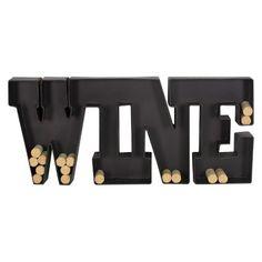 Metal Wall Wine Cork Holder - Black : Target