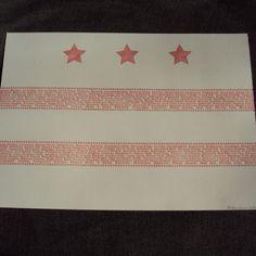 DC Flag Neighborhood Print. $20.00, via Etsy.