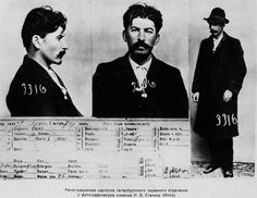 Stalin's Mug Shot. The information card on Joseph Stalin, from the files of the Tsarist secret police in St. Petersburg, circa 1911