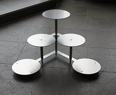 Aluminium Tortenetagere Tortenständer Rund Hochzeit 3 Etagen 5 Platten Ø 20 cm Etagere