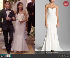 Santana's wedding dress on Glee. Outfit Details: http://wornontv.net/45905/ #Glee