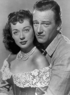 Gail Russell & John Wayne ~ 1940s ~ on screen and off screen romance