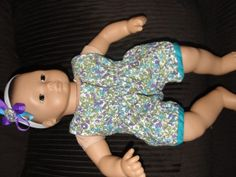 Free Pattern and Tutorial - Bitty Baby's Play Date Romper - Create and Play Momma
