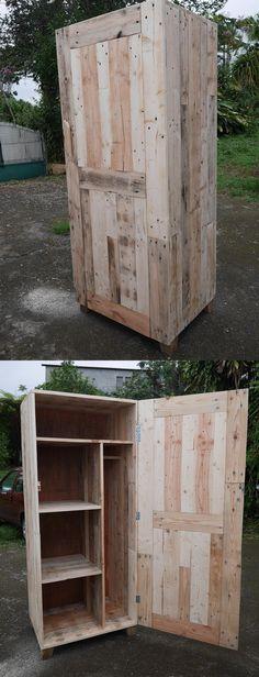 armoire en bois de palette