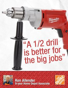 "A 1/2-inch drill is bigger and more powerful than an 3/8-inch drill. ""If I thought I was going to do remodels or be involved in weekly projects on my house, I would start with a ½ drill,"" Ken tells us. ""I use the corded drill when I know I'm going to be drilling for a long period of time."" This is a great gift for a fairly serious DIYer or pro. One customer calls the Milwakee Magnum drill a ""beast."" That's a good thing. 
