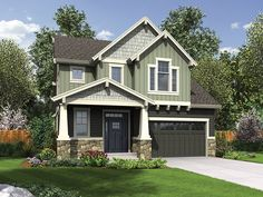 Bungalow Home Plan with 2128 Square Feet and 4 Bedrooms from Dream Home Source   House Plan Code DHSW077553