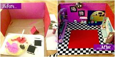 DIY-Littlest-Pet-Shop-House - SO doing this with the girls over hols :) have some shoe boxes Ive been saving