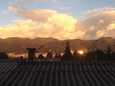 Atardecer de Monserrate, en Bogota
