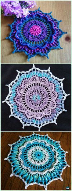 Crochet Mathilde Doily Free Pattern - Crochet Doily Free Patterns