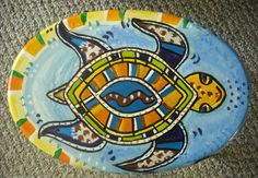 Sea Turtle Painted Rock