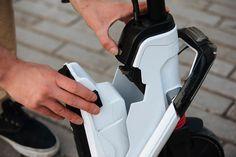 Test Oxelo Klick5 : notre avis, nos mesures au labo - Les Numériques E Scooter, Courses, Balenciaga, Racing, Sneakers, Shoes, Drum Brake, Ferris Wheels, Dance Floors