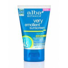 Alba Botanica Very Emollient Sport Mineral Sunscreen SPF 45.