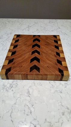 Frank Lloyd Wright inspired end grain cutting board