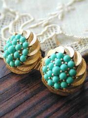 trifari turquoise earring