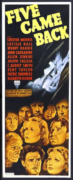Five Came Back Movie Posters From Movie Poster Shop - A terrific movie thriller.