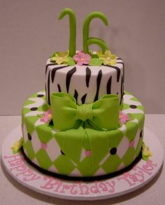 Sweet Sixteen Cakes For Girls   SWEET 16 CAKES -