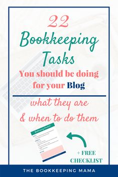 22 Bookkeeping Tasks you should be doing for your Etsy business {Free Checklist} Online Bookkeeping, Small Business Bookkeeping, Bookkeeping And Accounting, Small Business Accounting, Bookkeeping Course, Bookkeeping Training, Accounting Notes, Learn Accounting, Bookkeeping Services