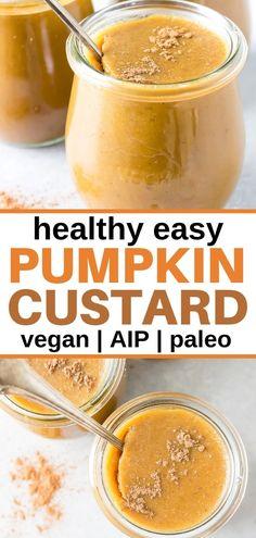 This Healthy Paleo Pumpkin Custard tastes like pumpkin pie but takes a lot less time to make -- and Paleo Pumpkin Pie, Healthy Pumpkin, Baked Pumpkin, Pumpkin Dessert, Pumpkin Recipes, Pumpkin Nutrition, Pumpkin Cheesecake, Paleo Dessert, Bon Dessert