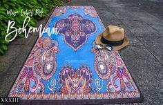 Oh My!  Magic Carpet  Ride- Bohemian UNION YOGA MAT by Free Thirty  Three Yoga Design Co.  This Company makes stunning yoga mats boho gypsy indie hippie style!  LOVE!