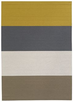 The Woodnotes FOURWAYS paper yarn carpet is a play of colors with nine different combinations. Wide Stripes, Colorful Interiors, Carpets, Weaving, Colour, Pure Products, Play, Rugs, Paper