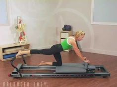 Reformer - Single leg work with core stabilization