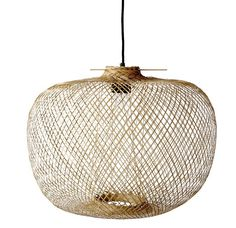 Luminaire - Suspensions - Suspension Bamboo / Ø 42 x H 30 cm - Bloomingville - Naturel - Bambou Bamboo Pendant Light, Bamboo Light, Bamboo Lamps, Pendant Lamp, Pendant Lighting, Lighting Sale, Round Pendant, Lighting Design, Rattan Lamp