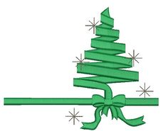 Green Ribbon Christmas Tree - Machine Embroidery Design  155*130mm \ 6.2*5.2 inc \ 6700 stc . 130*85mm \ 5.2*3.4 inc \ 5600 stc. 100*80mm \ 4*3.2 inc \ 4500 stc.  multiformat : DST, EXP, ART, PES, HUS, JEF, SEW, if necessary, to change the size - contact us  Due to the electronic nature of the design NO REFUNDS will be given.  These designs are not to be altered, edited or converted in any way. There is no guarantee the quality of the designs once they are edited, resized or altered.