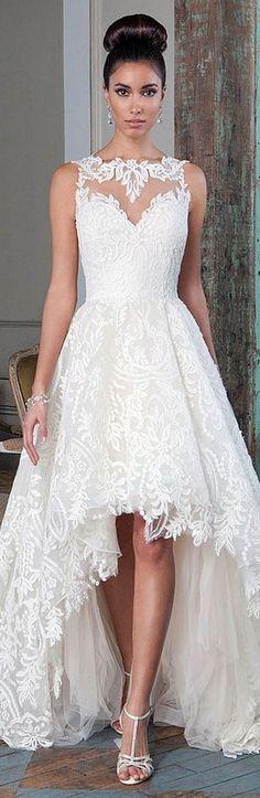 Hi-Lo Wedding Dress by Justin Alexander
