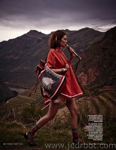 Catherine McNeil by Mariano Vivanco Vogue Russia March 2014