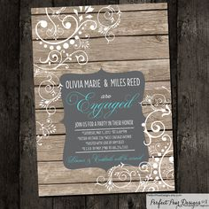 Couples Engagement Party - Wedding Shower Invitation - Chalkboard Paisley Country Western, Bridal or Birthday Printable DIY Digital Wedding Welcome, Our Wedding, Dream Wedding, Party Wedding, Wedding Ideas, Wedding Shower Invitations, Bridal Shower, Wedding Showers, Engagement Ideas
