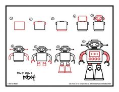 How To Draw A Robot » Art for Kids!