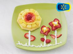 Kellogg's Eggo Waffle Flowers http://wm13.walmart.com/Food-Entertaining/Recipes/26250