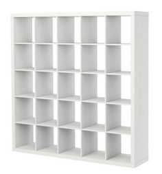 Ikea Bookcase = Room Divider w/ Storage