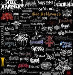 Metal logos.