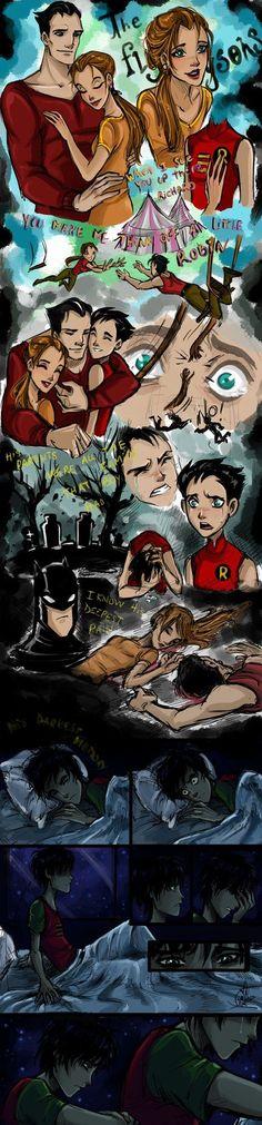 La historia y el dibujo son iguales al de la serie the batman salvo este dick grayson este robin es de los teen titans la serie