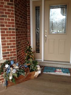 Winter entry way / front porch
