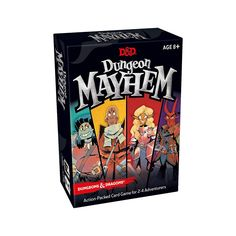 Wizards of the Coast Dungeon Mayhem Card Game Fun Card Games, Card Games For Kids, Fun Games, 28mm Miniatures, Reaper Miniatures, Dungeons And Dragons, Role Playing Board Games, Age, Wizards Of The Coast