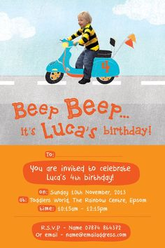 Child's birthday invitation.