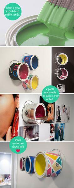 Nichos de latas de tinta - blogremobilia.com