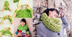 Se tricoter son écharpe sois même sans aiguille ... j'adore!