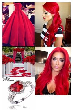 """WWE Diva Eva Marie's Wedding"" by mrscerulli ❤ liked on Polyvore featuring WWE"