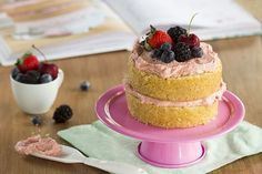 NAKED CAKE DE MOUSSELINE DE FRAMBOESA   Thaís & Dani