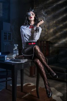 """Elizabeth Bioshock: """"Burial at Sea"""" by LilSophie. From DeviantArt. Photo by Sketch Turner (Andrei Shinkarchuk)"""