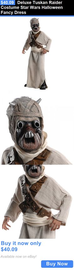 Kids Costumes: Deluxe Tuskan Raider Costume Star Wars Halloween Fancy Dress BUY IT NOW ONLY: $40.09