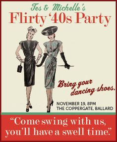 What better party idea for two friends turning 40 than a 1940's themed get together? We picked red, brown, orange, and jade green as our ...