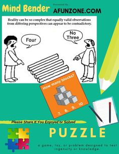 #puzzle #mindbender #Blocks #bars #optical #illusions #picture #solve
