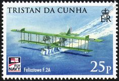 Royal Navy FELIXSTOWE F.2a Flying Boat Aircraft Stamp (2009 ...